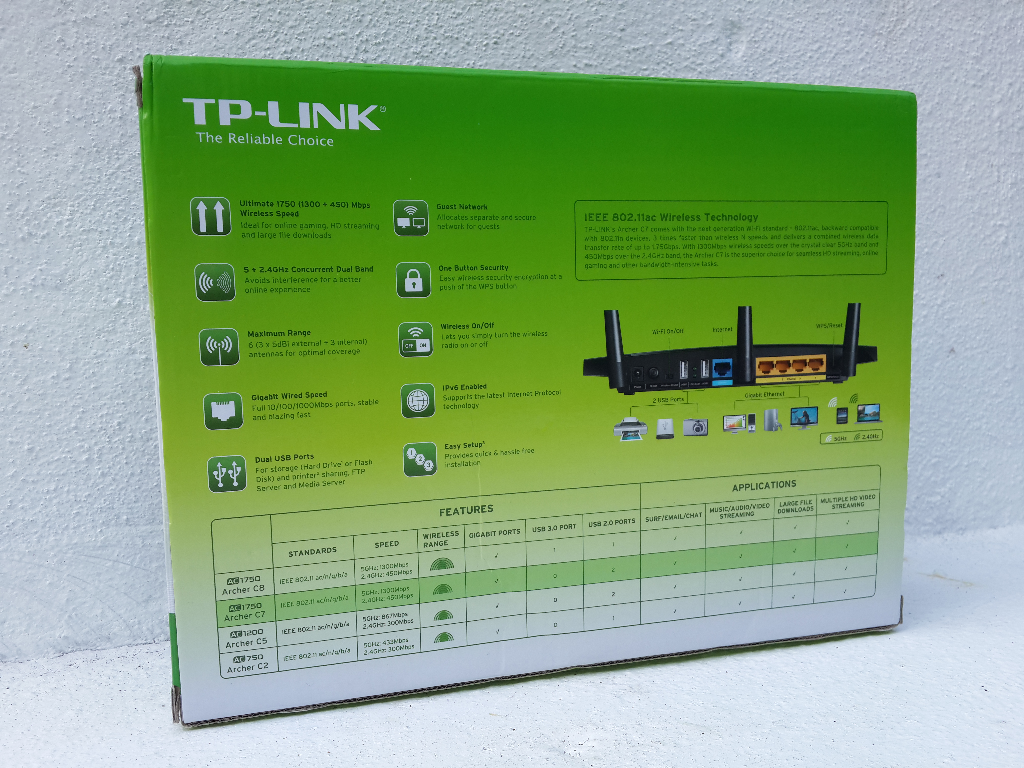 Review: TP-LINK Archer C7 AC1750 Wireless Dual Band Gigabit Router